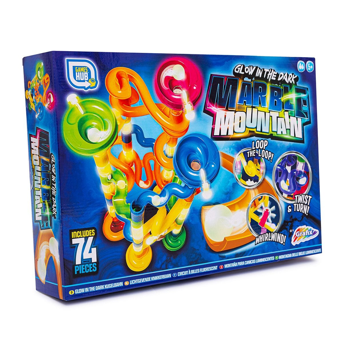 Glow in the Dark Marble Race Game - 74 pieces