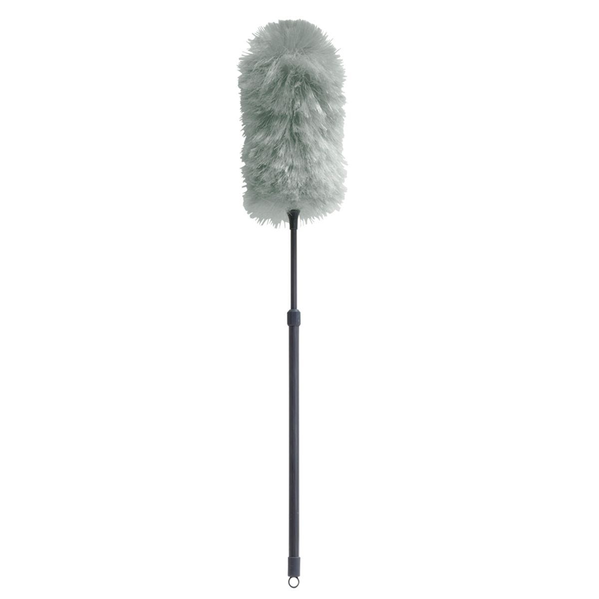 JVL Synthetic Static Duster with Extendable Pole Grey/Turquoise