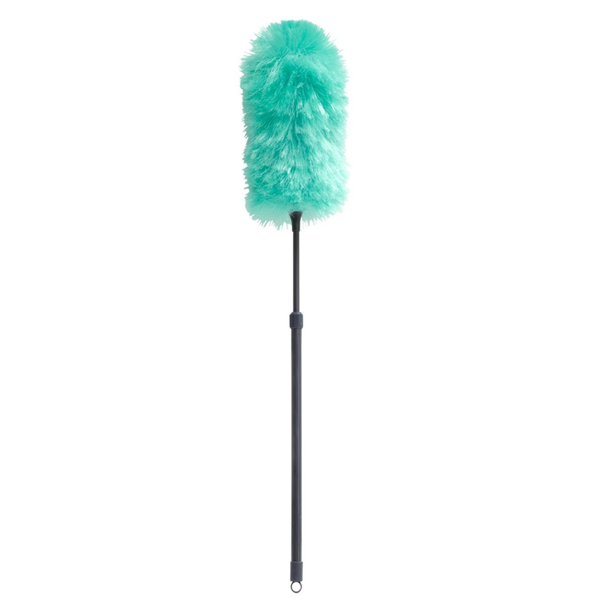 JVL Synthetic Static Duster with Extendable Pole Turquoise/Grey