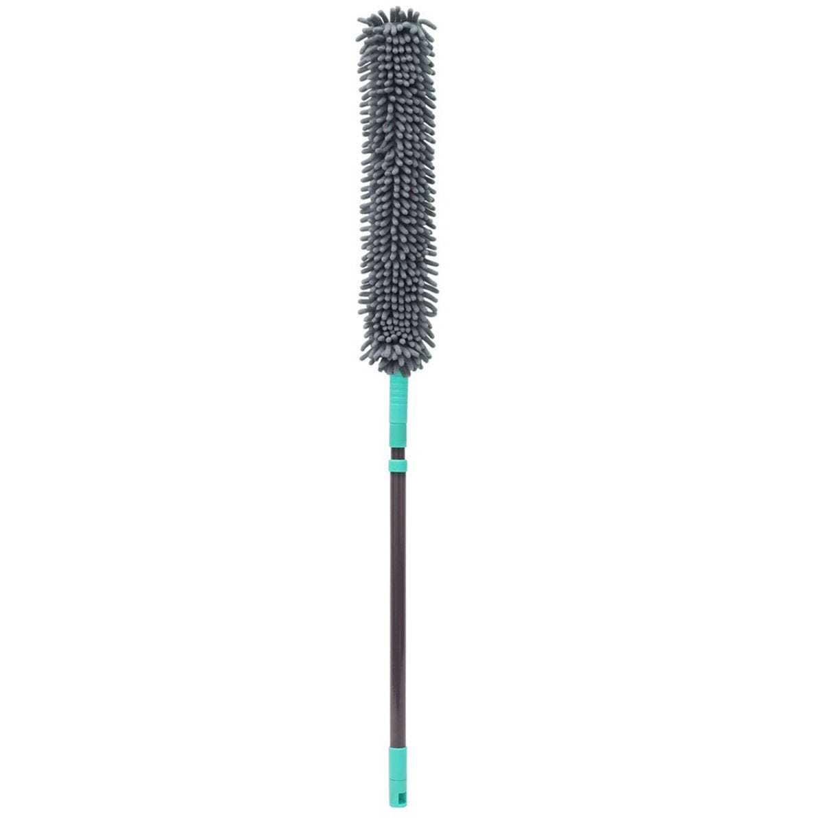 JVL Flexible Chenille Head Duster with Extendable Handle Grey/Turquoise