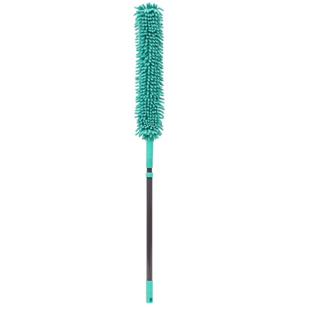 JVL Flexible Chenille Head Duster with Extendable Handle Turquoise/Grey