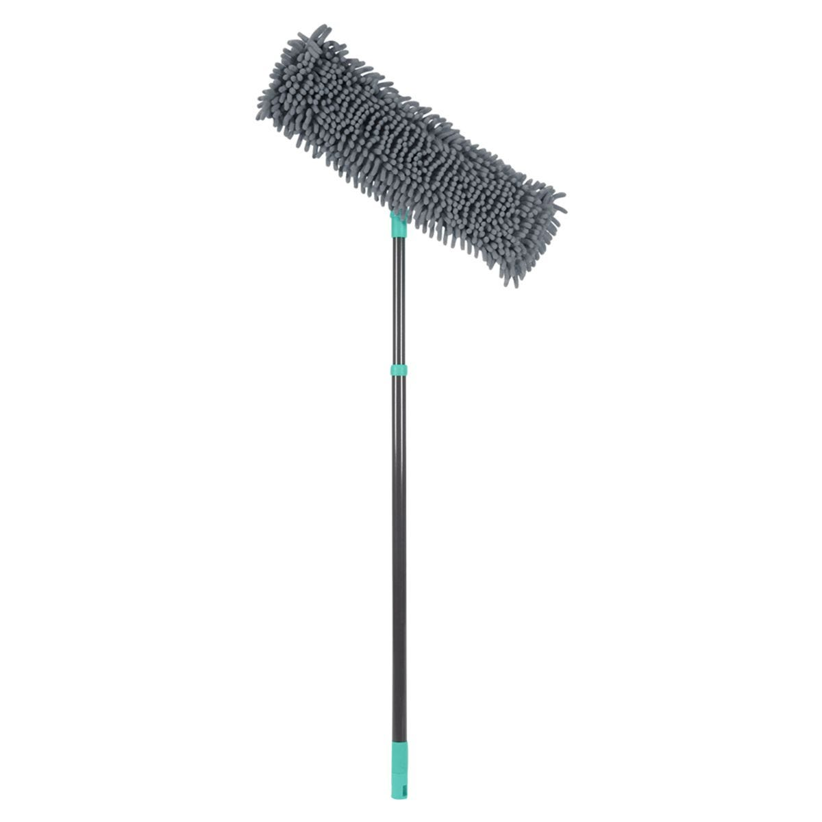 JVL Super-Absorbent Chenille Extendable Flat Floor Mop Grey/Turquoise