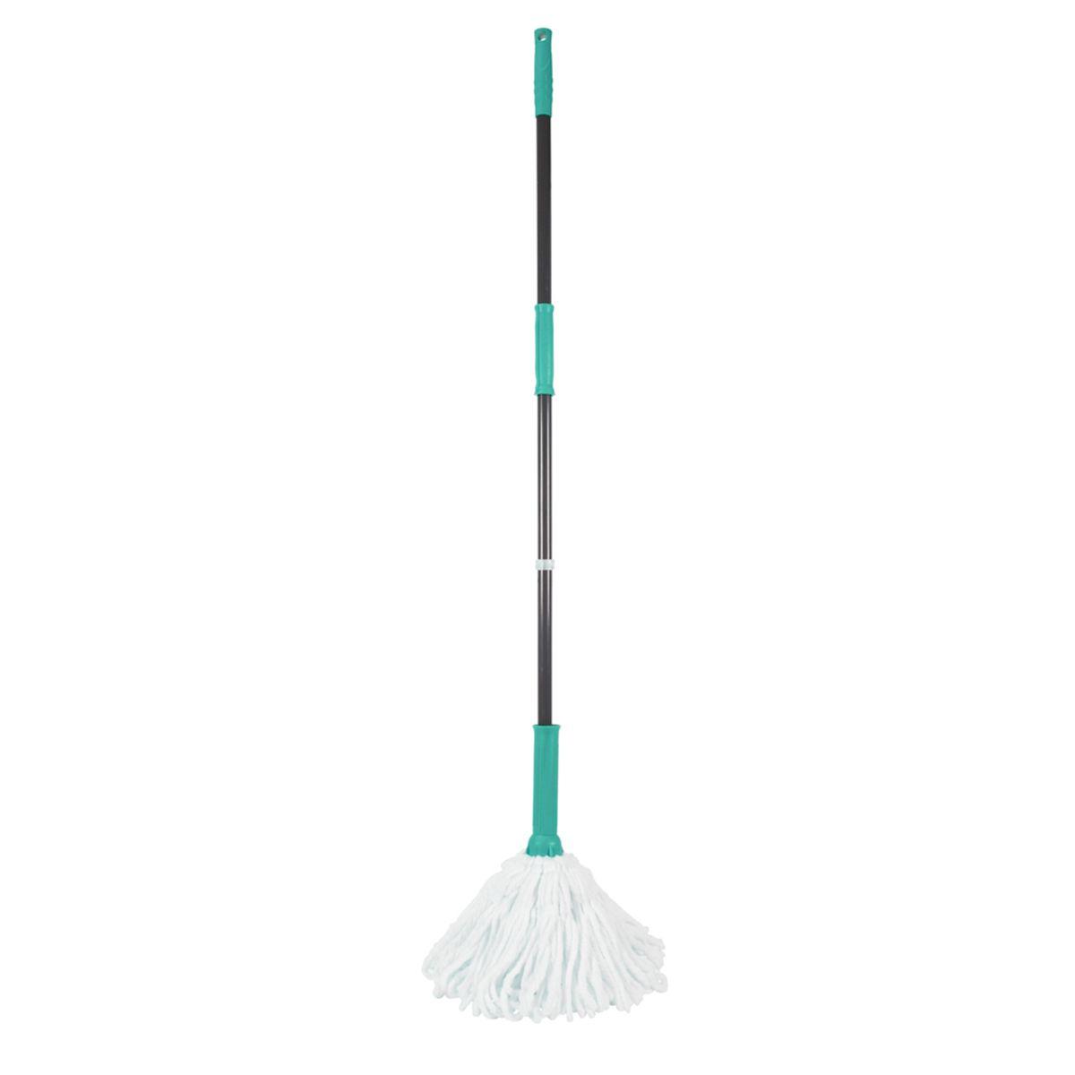 JVL Super-Absorbent Easy Twist Microfibre Floor Mop Turquoise/Grey