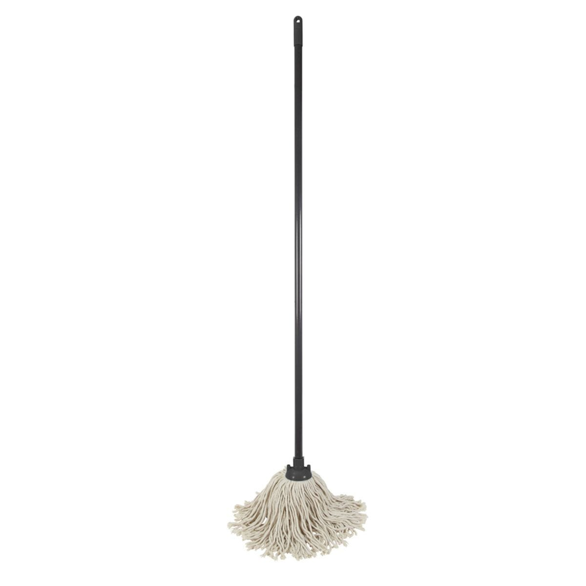 JVL Pure Cotton Traditional String Floor Mop Grey/Turquoise