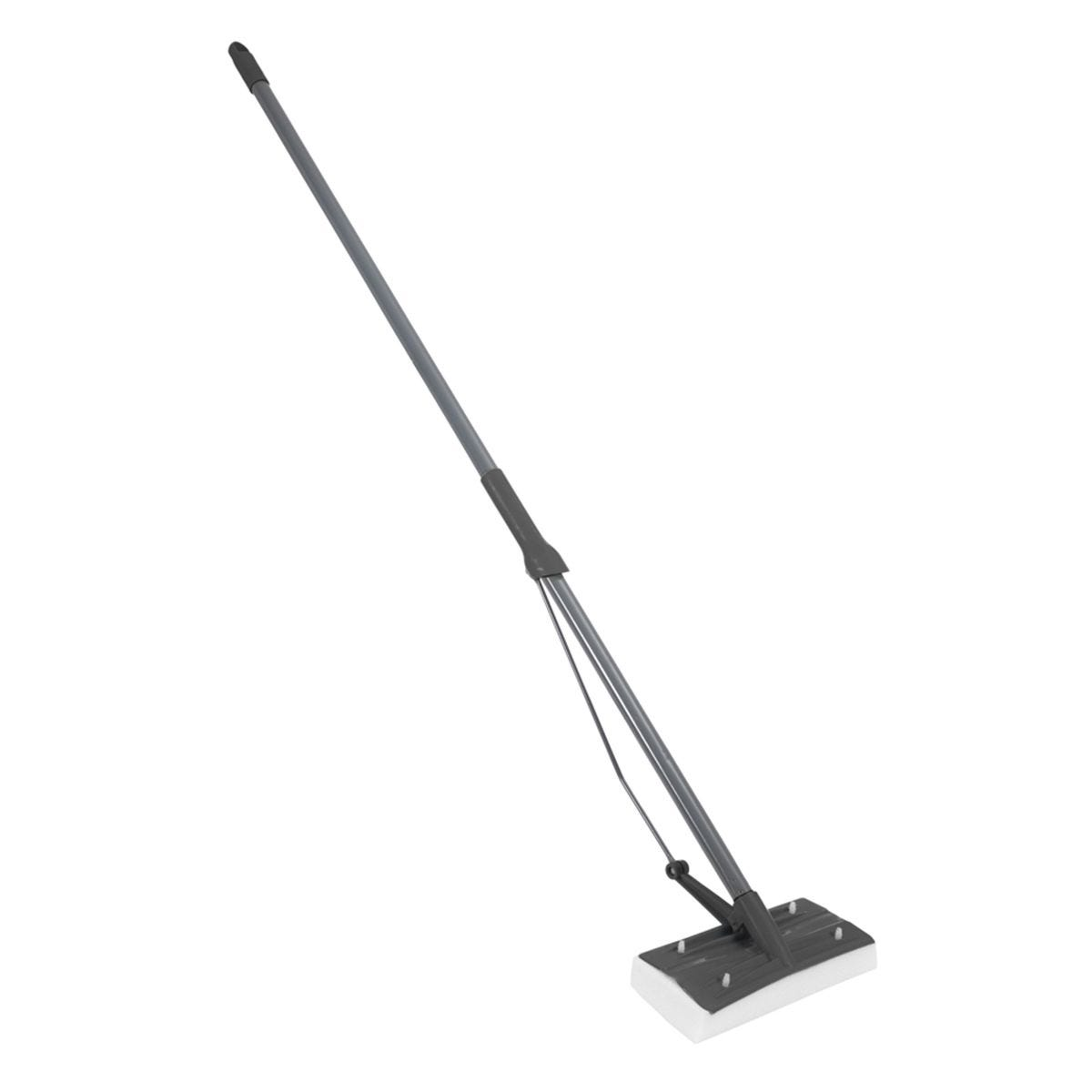 JVL Super-Absorbent Flat Sponge Squeegee Floor Mop Grey/Turquoise