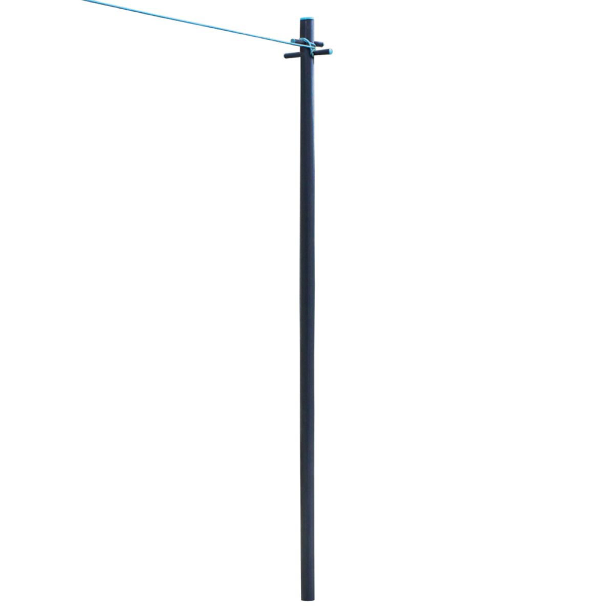 JVL Clothes Pole Post with Washing Line and Ground Socket