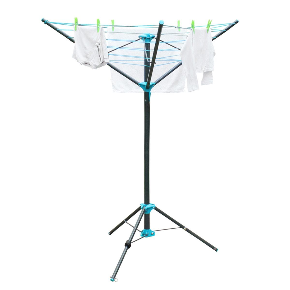 JVL Compact Portable 3 Arm Free Standing Rotary Clothes Airer 16m