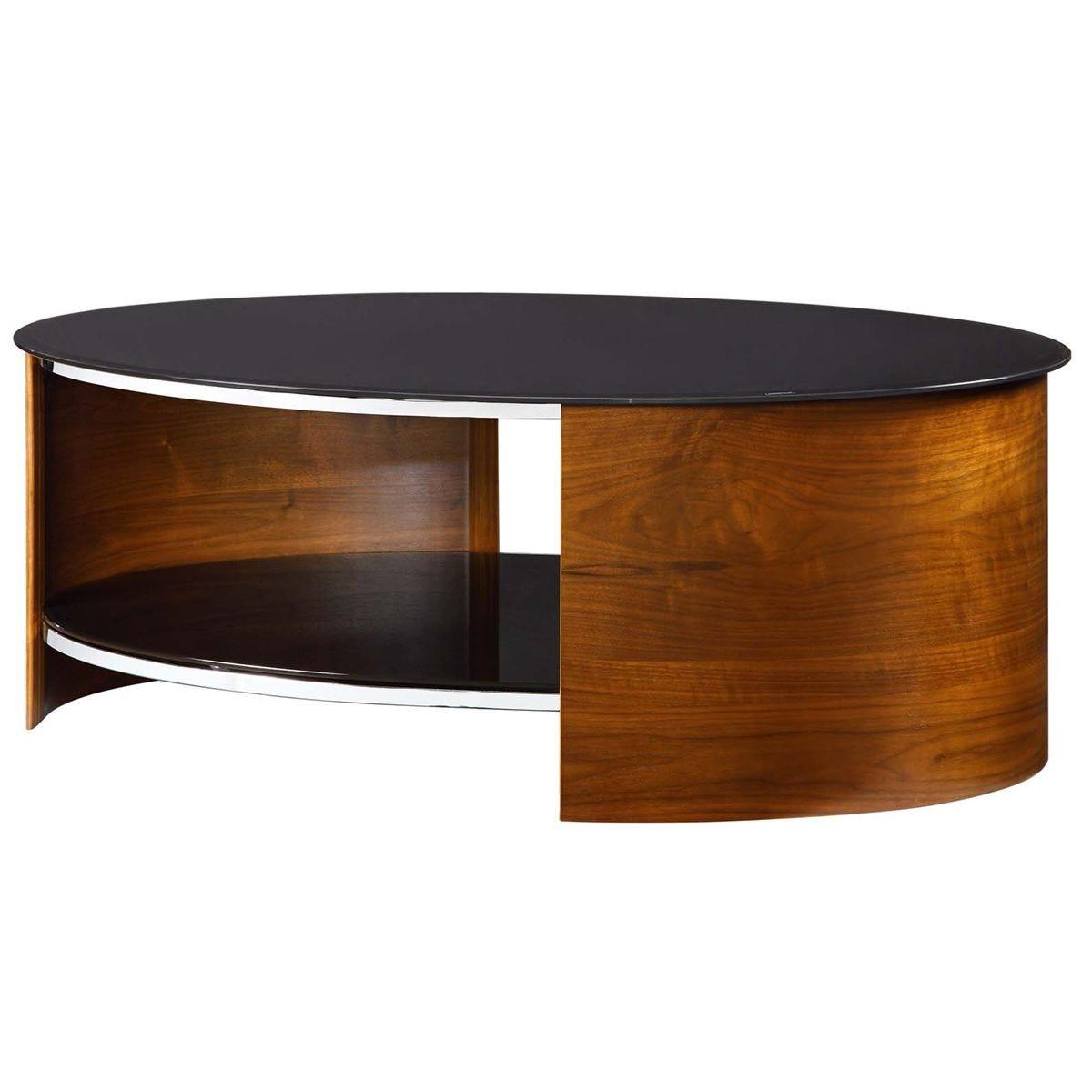 Jual San Marino Walnut Oval Coffee Table