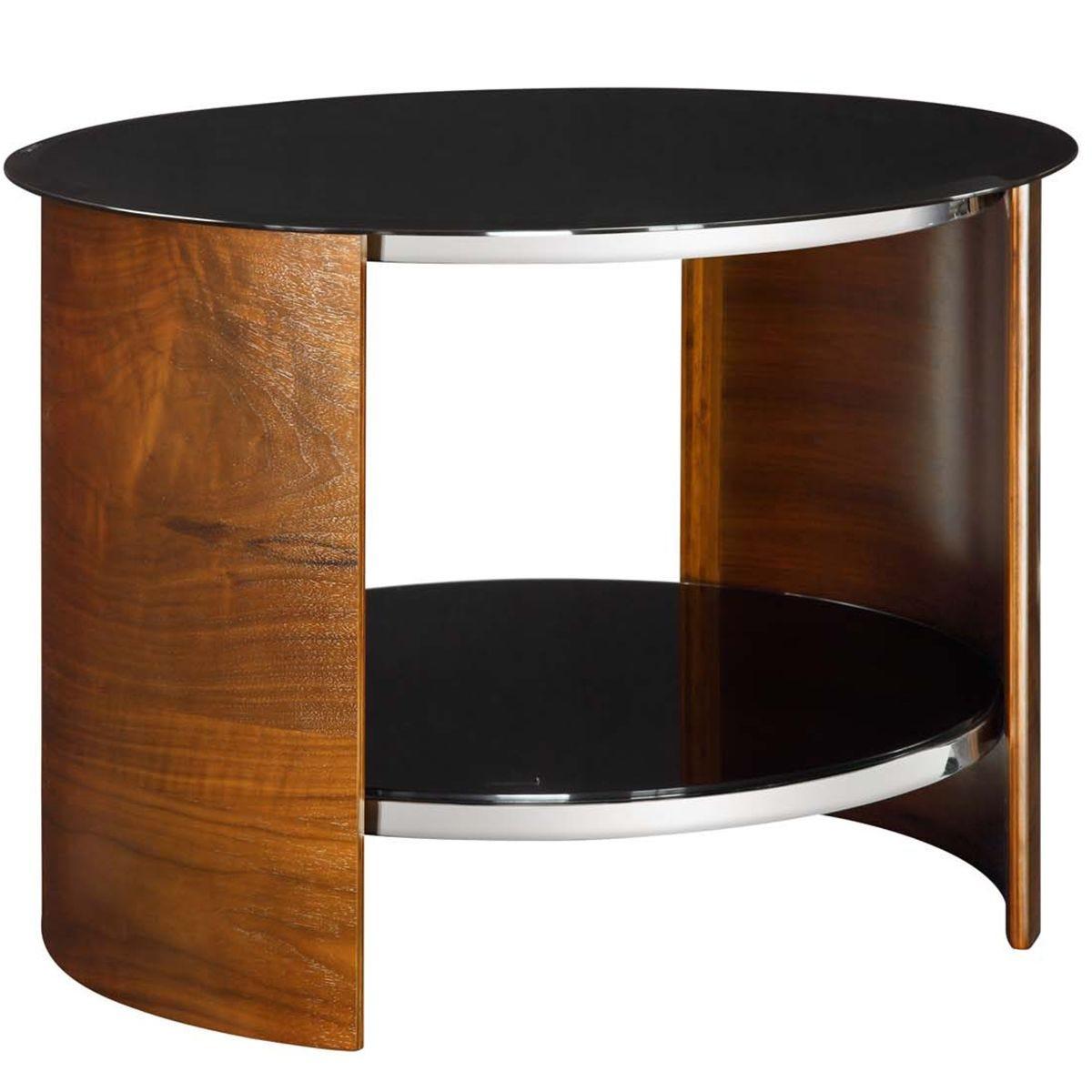 Jual San Marino Walnut Round Lamp Table