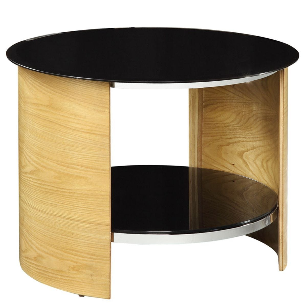 Jual San Marino Oak Round Lamp Table