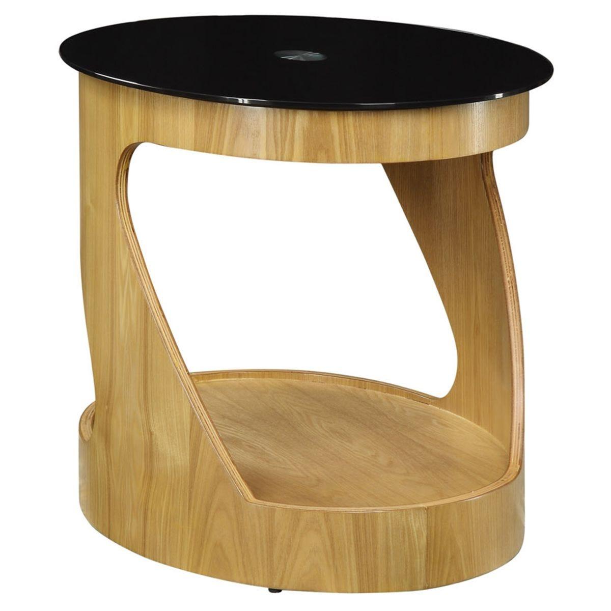 Jual San Marino Oak Oval Lamp Table
