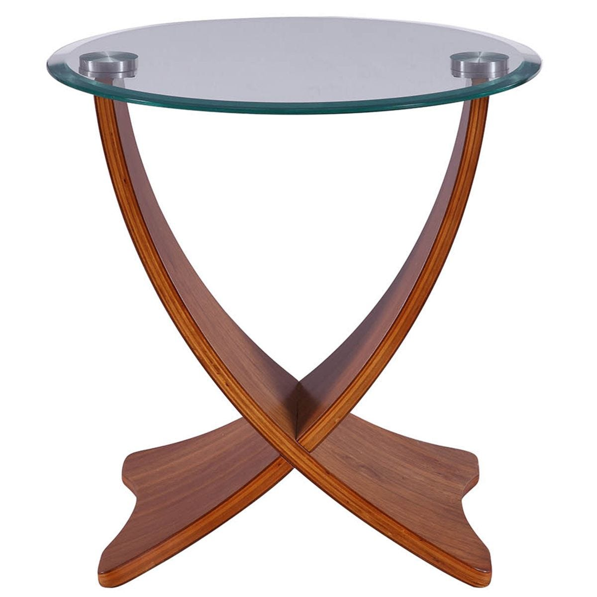Jual Siena Walnut & Glass Lamp Table