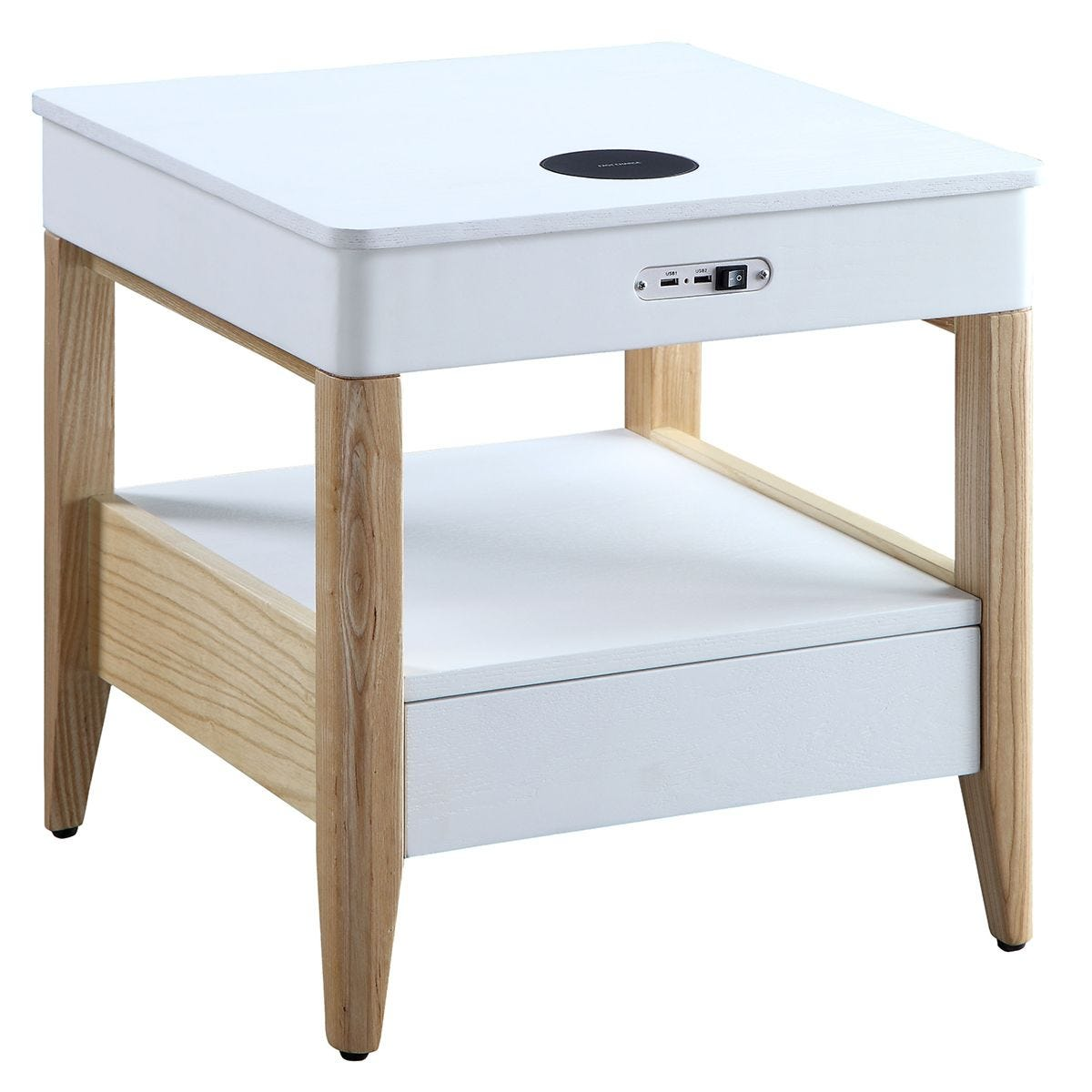 Jual San Francisco Ash/White Smart Bedside Table Wireless Charger - Ash Legs