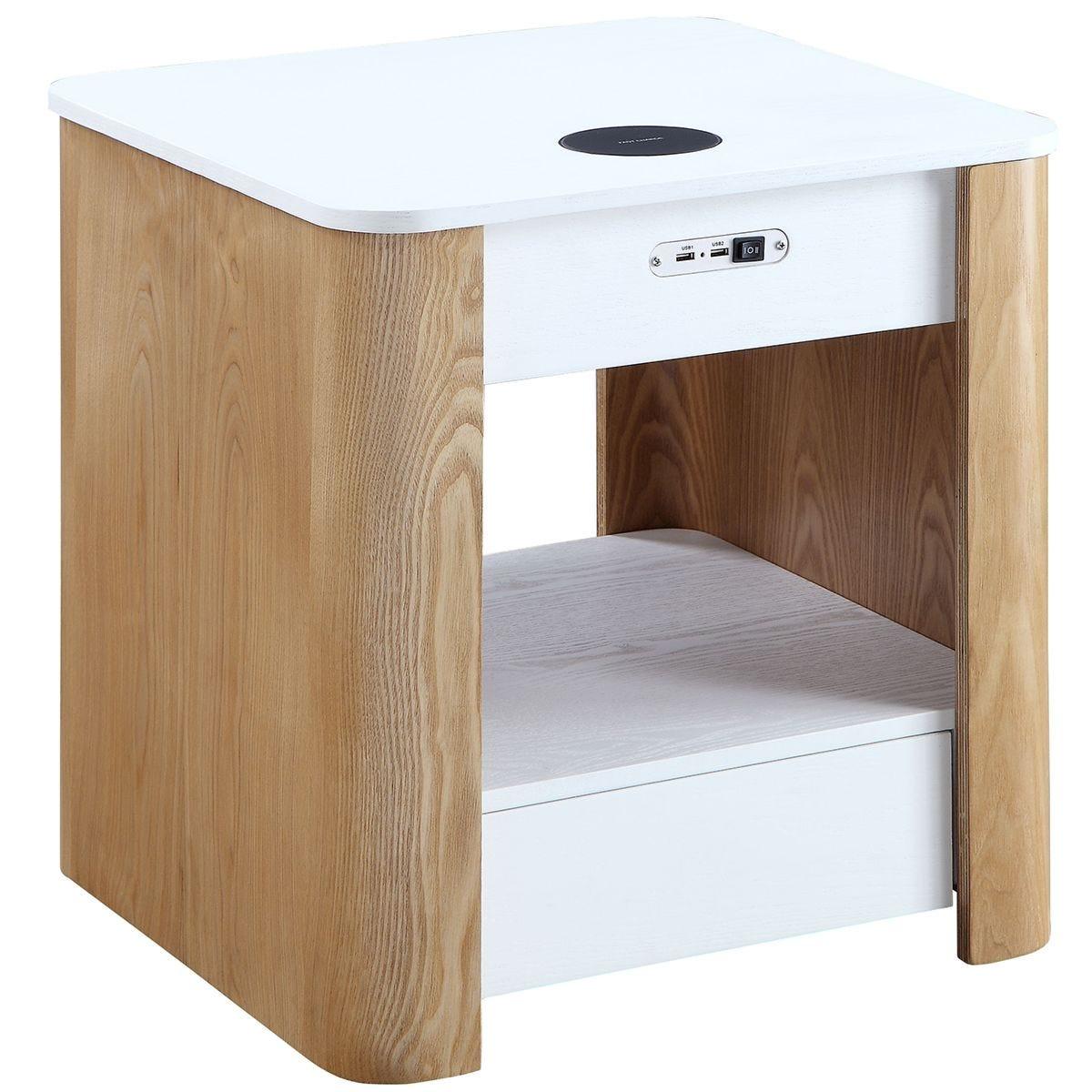 Jual San Francisco Ash/White Smart Bedside Table Wireless Charger & Speaker & Light
