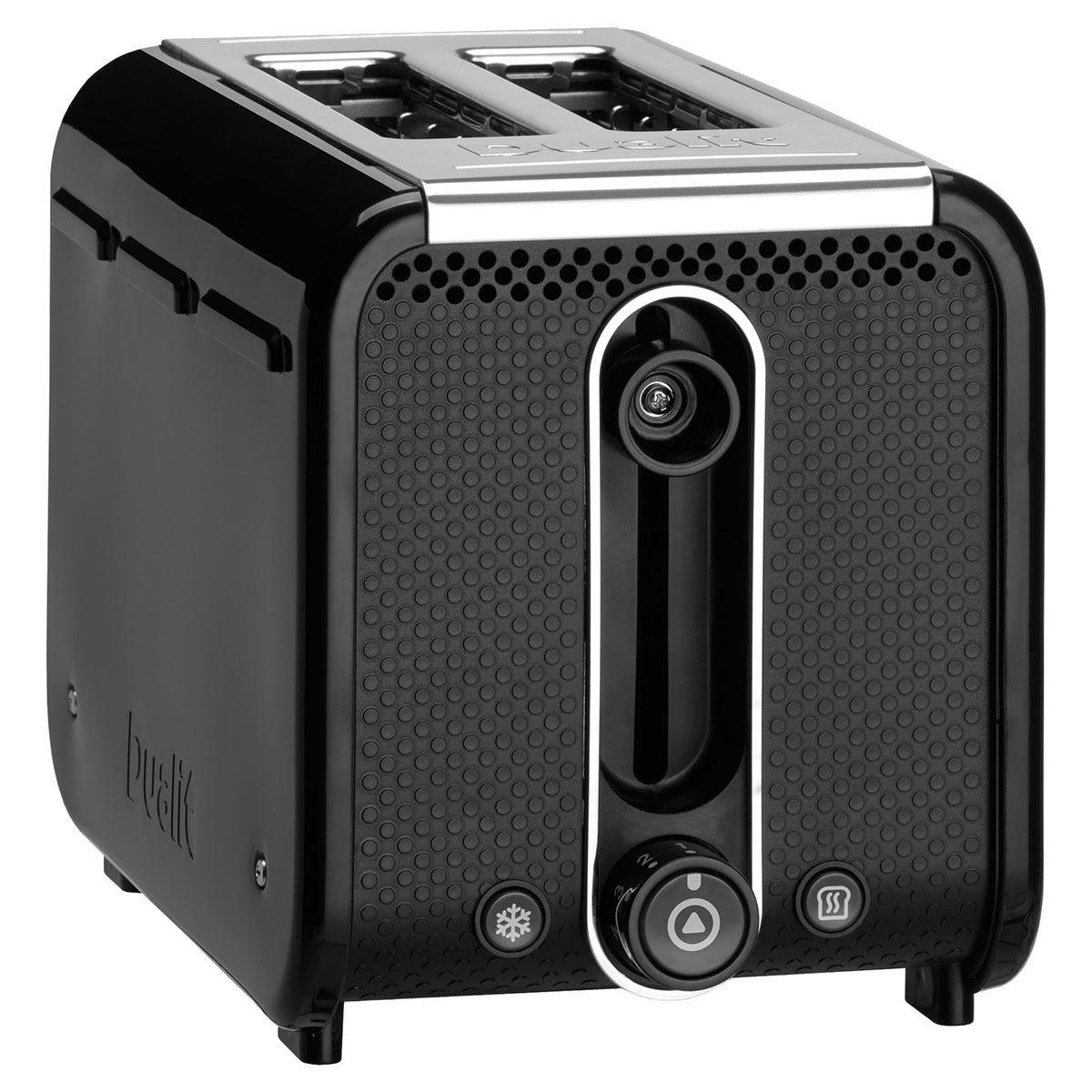 Dualit DA2641 2-Slice Studio Toaster with Removable Crumb Tray- Black