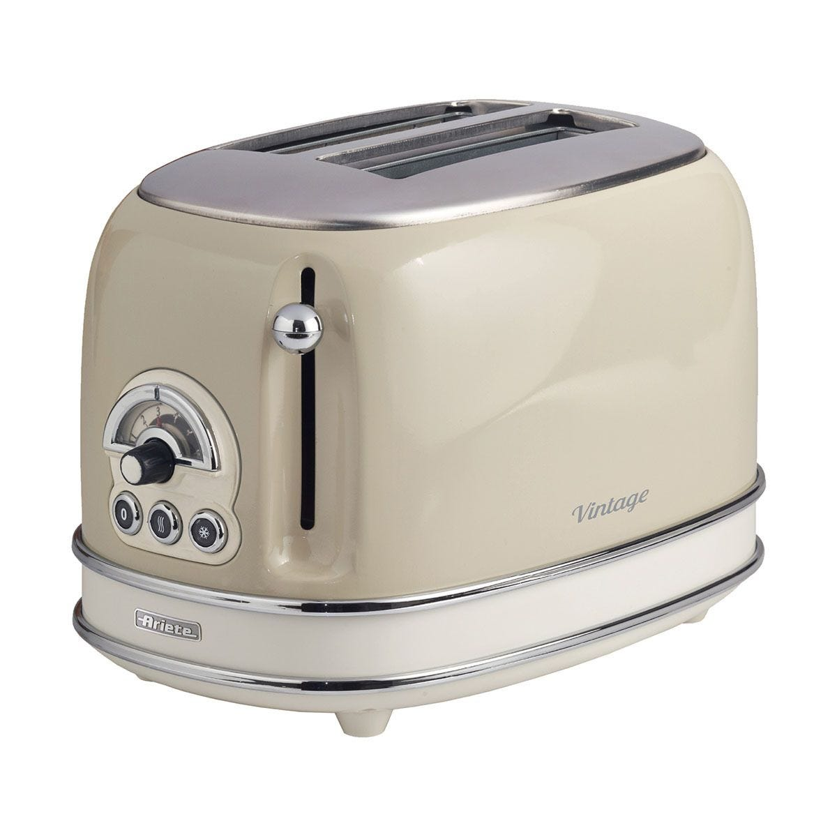 Ariete AR5513 Vintage 2–Slice Toaster – Cream
