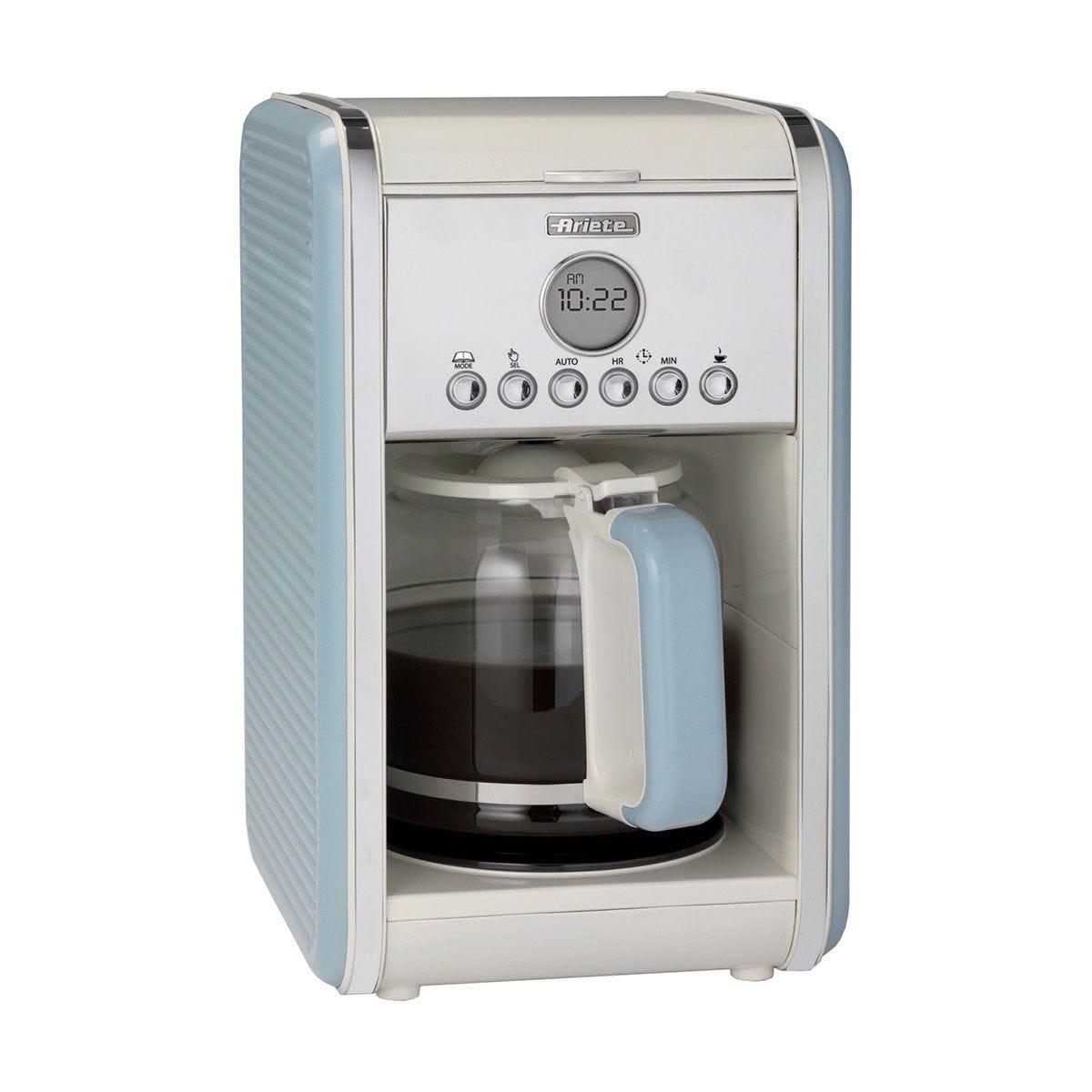 Ariete AR4205 Vintage 12–Cup 2000W Filter Coffee Maker – Blue