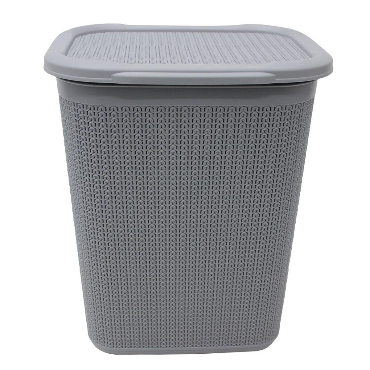 JVL 50L  Laundry Basket - Grey