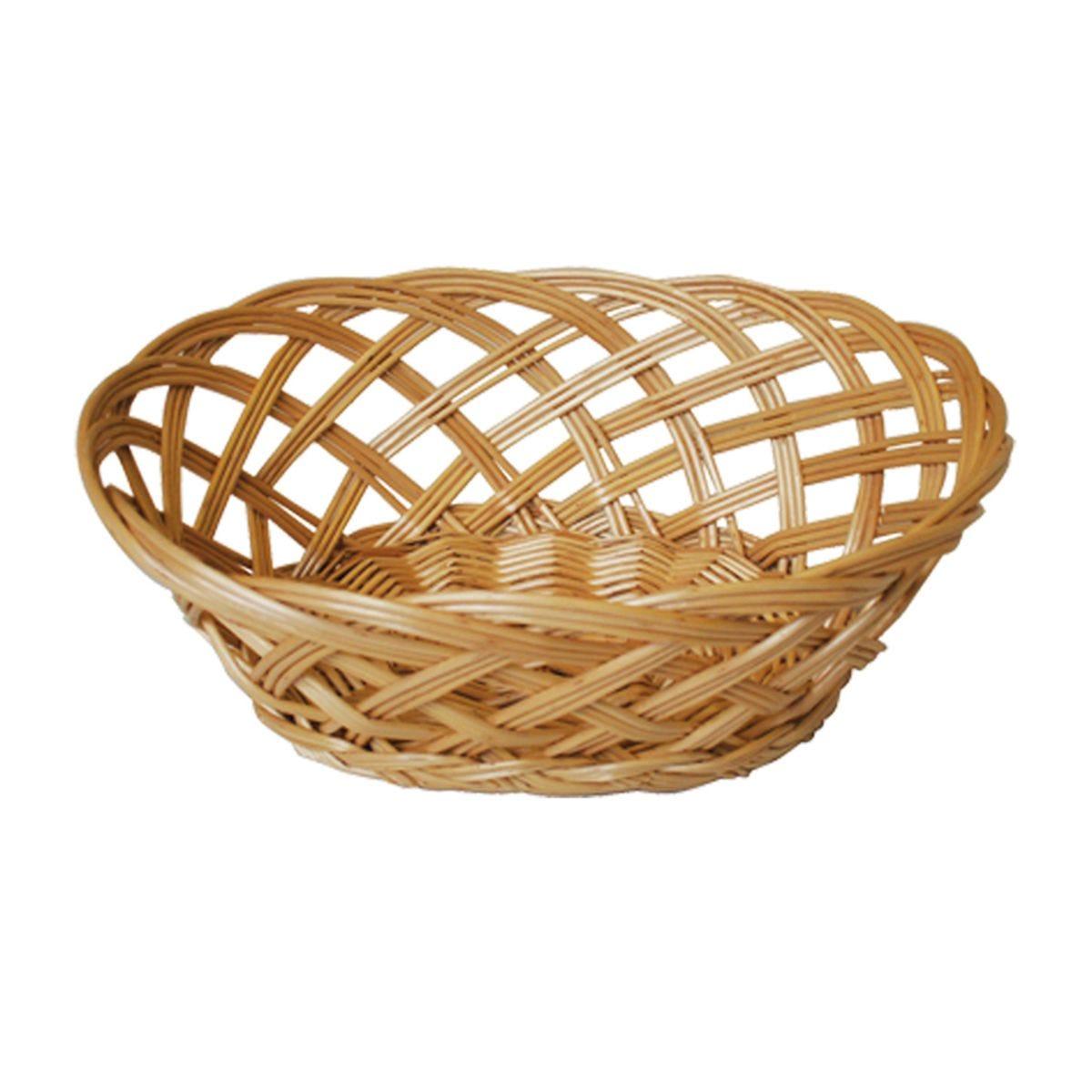 JVL Oval Steamed Open Willow Basket 23 x 18 x 9 cm
