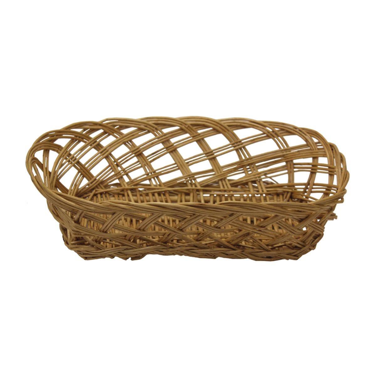JVL Steamed Willow Open Weave Basket 25.5 x 15.5 cm