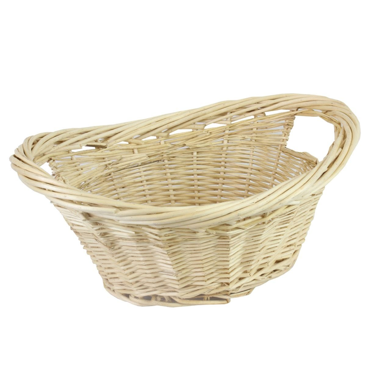 JVL Willow All Purpose Laundry Basket with Inset Handles Wood 58 x 43 x 25 cm
