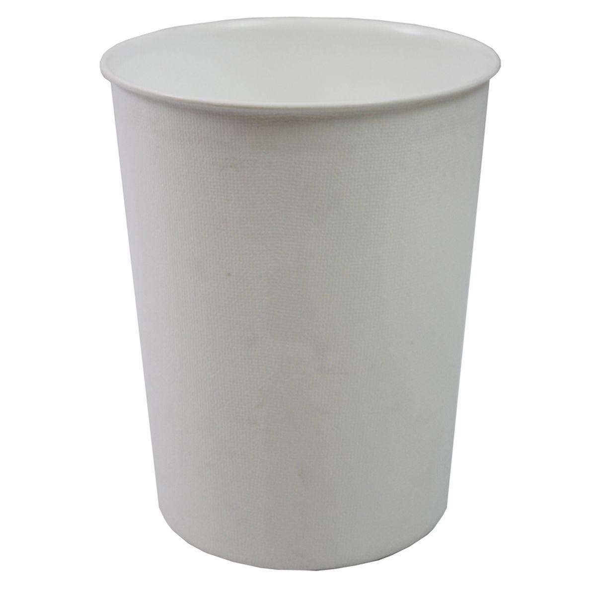 JVL Quality Vibrance Lightweight Waste Paper Basket Bin Plastic White