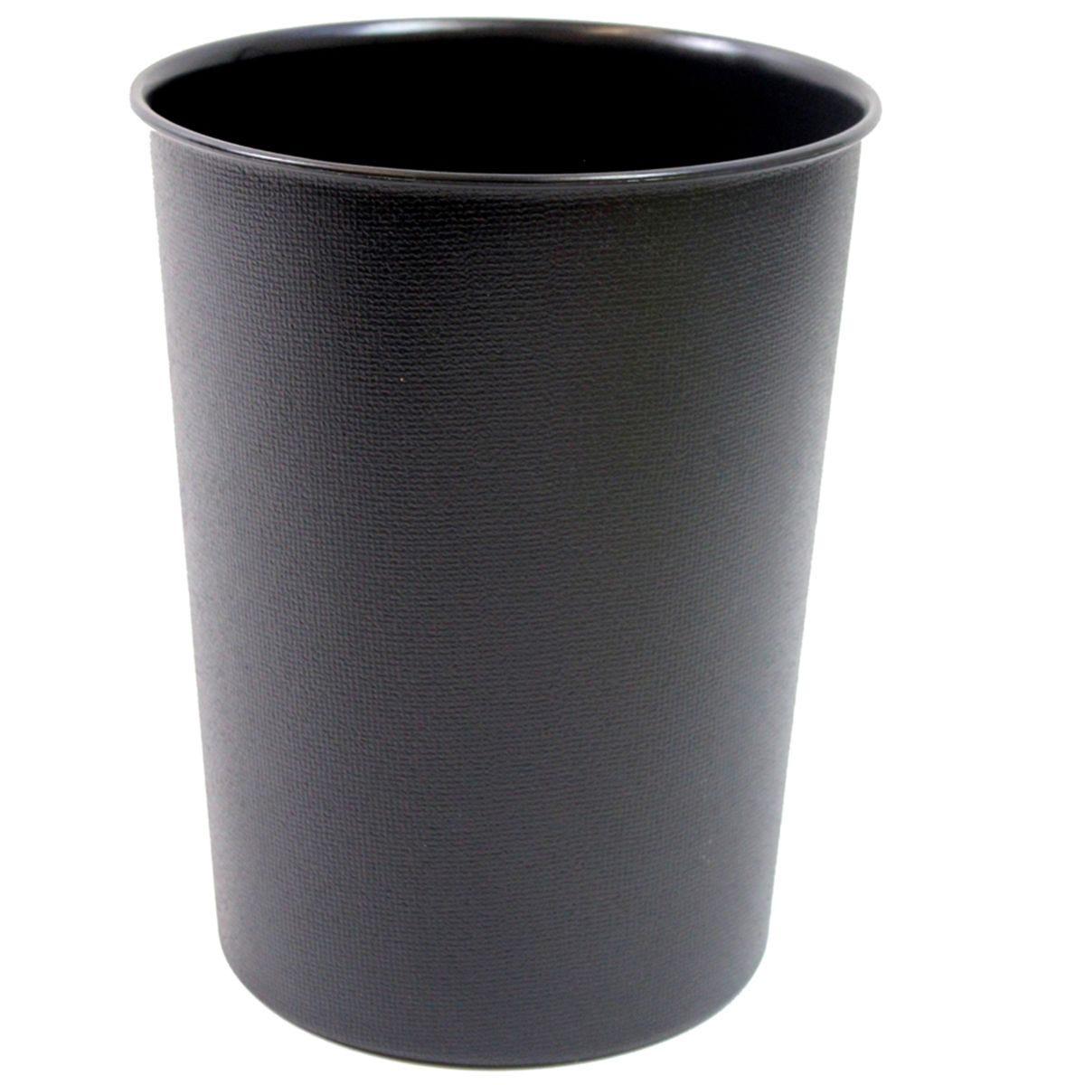 JVL Quality Vibrance Lightweight Waste Paper Basket Bin Plastic Black