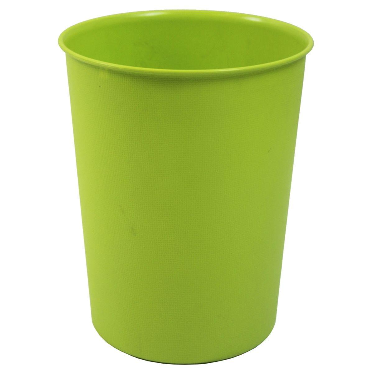 JVL Quality Vibrance Lightweight Waste Paper Basket Bin Plastic Bright Green