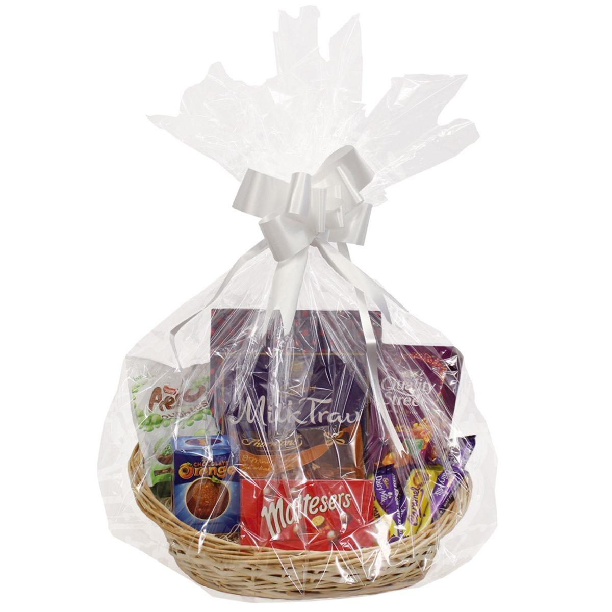 JVL Oval Make Your Own Gift Hamper Basket Kit 39 x 34 x 14 cm