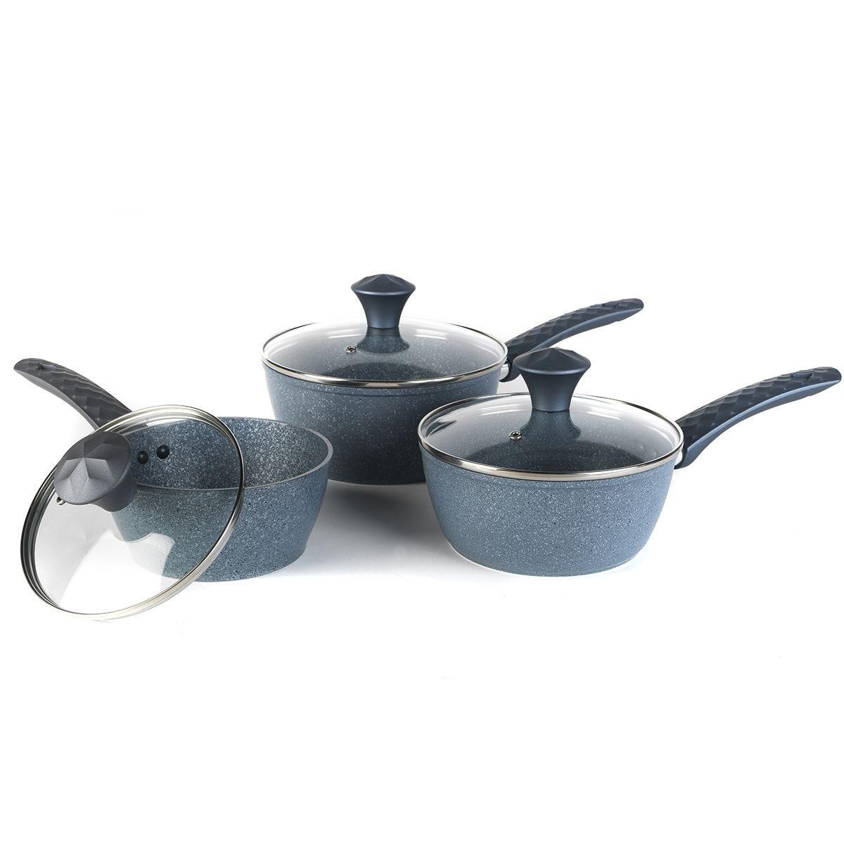 Salter Diamond Tech 3pc Pan Set - Blue