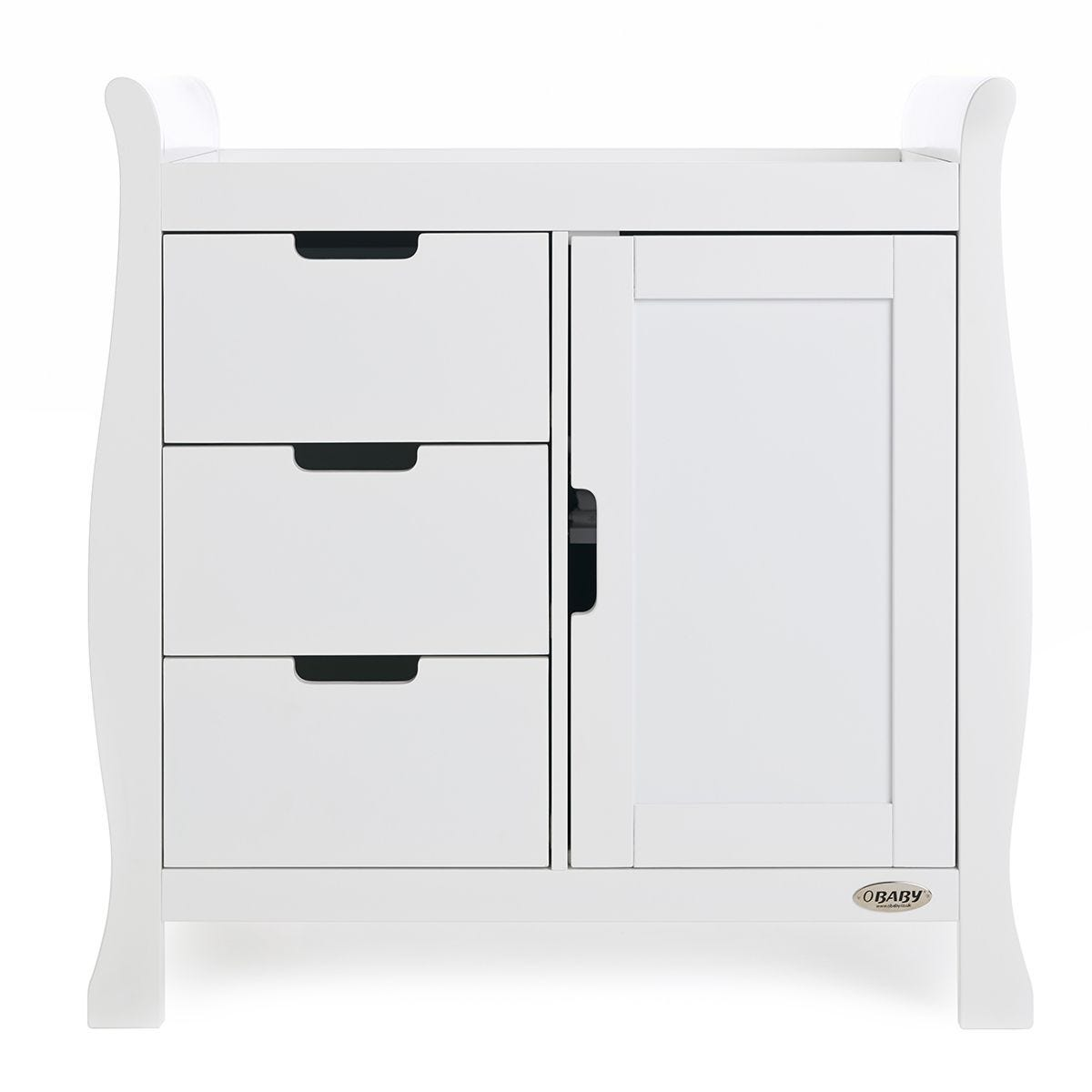 Obaby Stamford Sleigh Closed Changing Unit - White