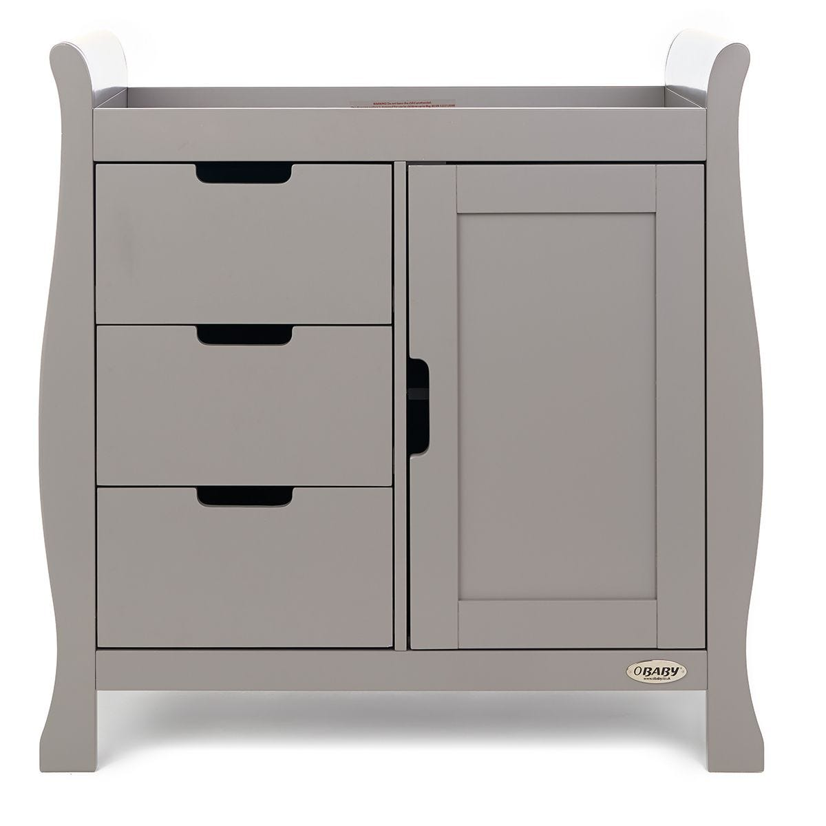 Obaby Stamford Sleigh Closed Changing Unit - Taupe Grey