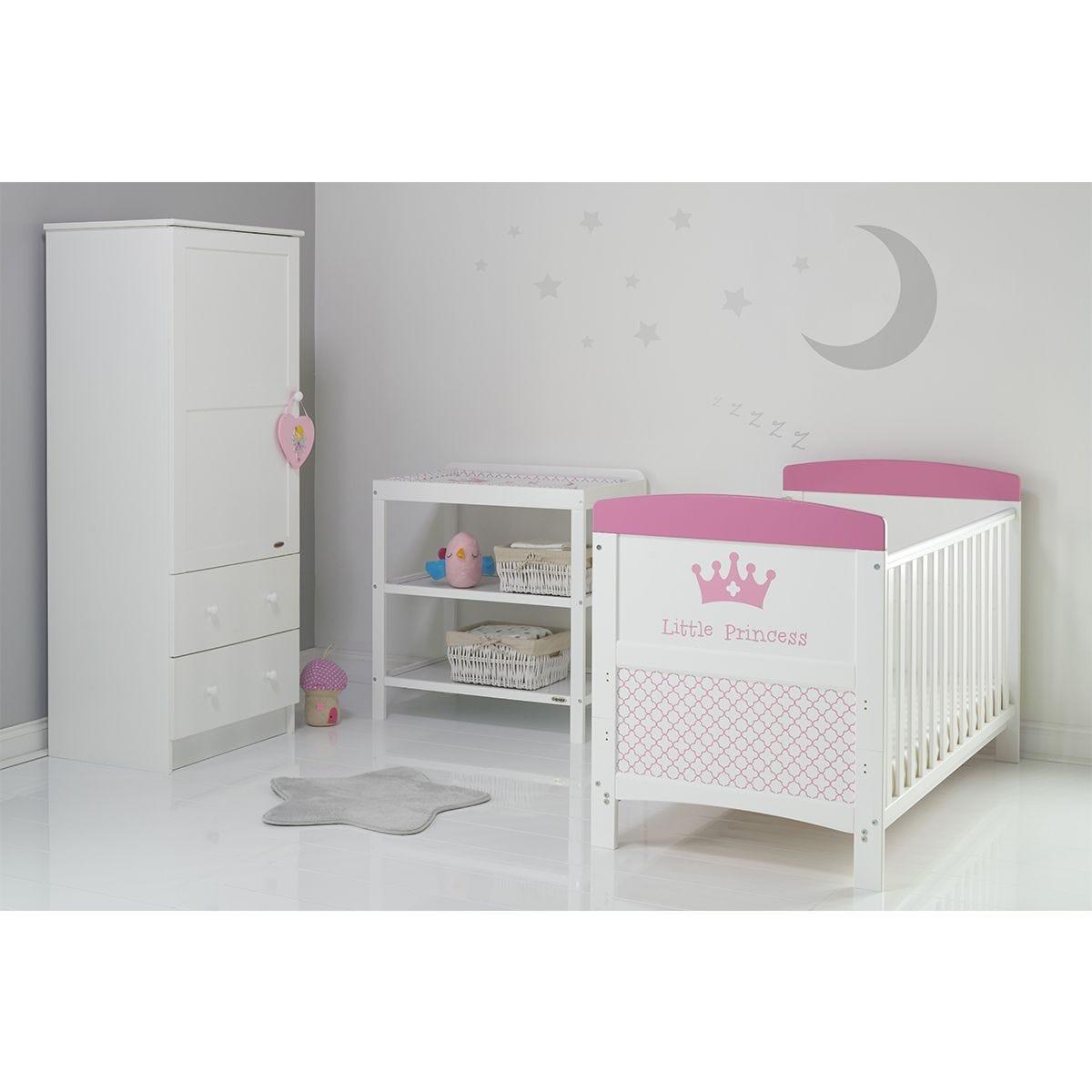 Obaby Grace Inspire 3 Piece Room Set & Changing Mat - Little Princess