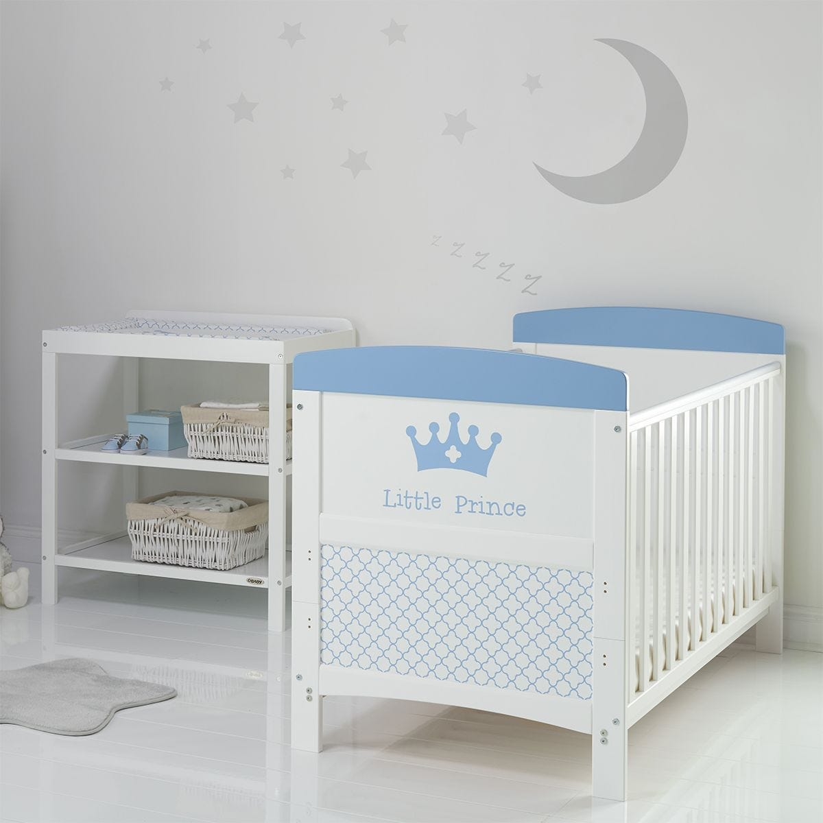 Obaby Grace Inspire 2 Piece Room Set & Changing Mat - Little Prince