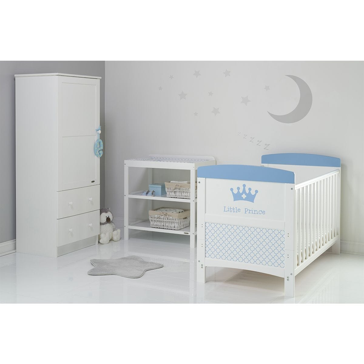 Obaby Grace Inspire 3 Piece Room Set & Changing Mat - Little Prince
