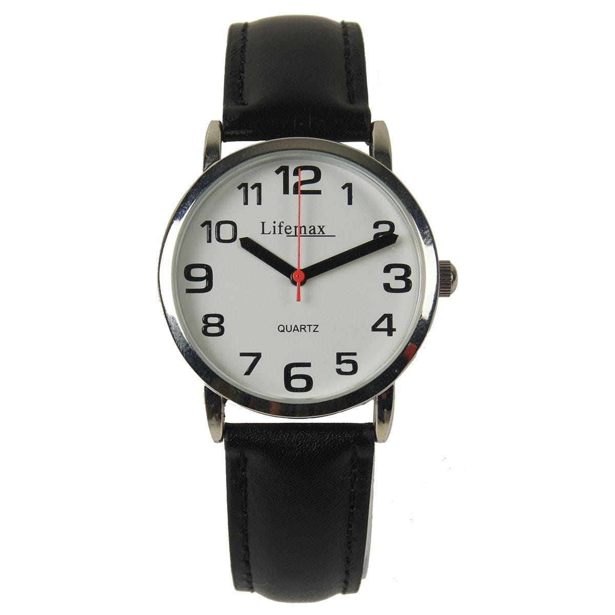 Lifemax Gents Clear Time Watch with Leather Strap