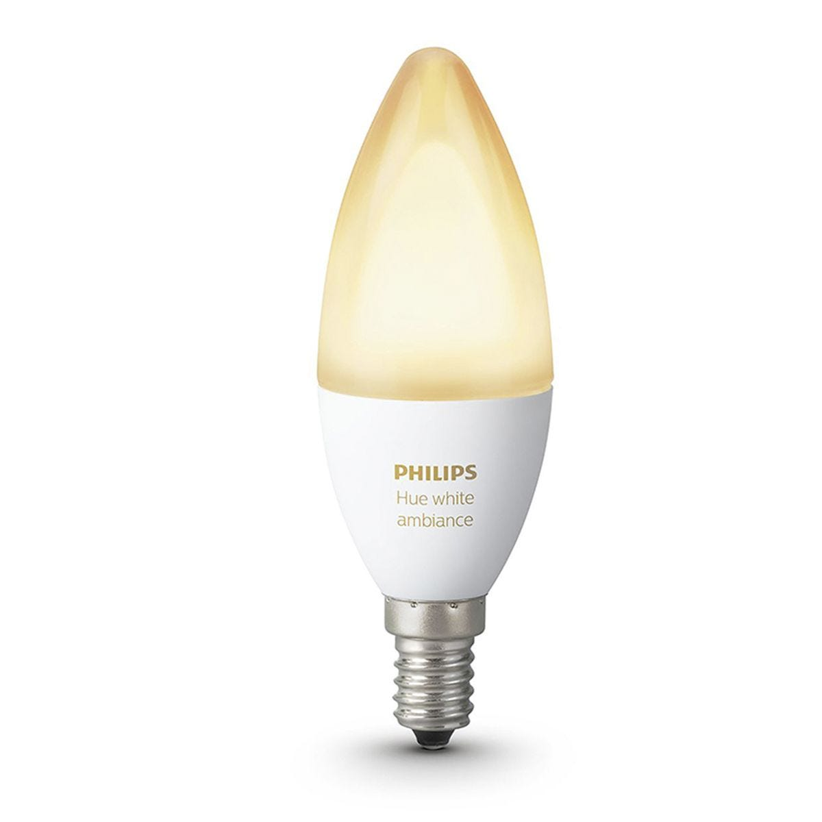 Philips Hue Smart WiFi Dimmable White Ambience LED Small Edison Screw (SES) 40w Light Bulb