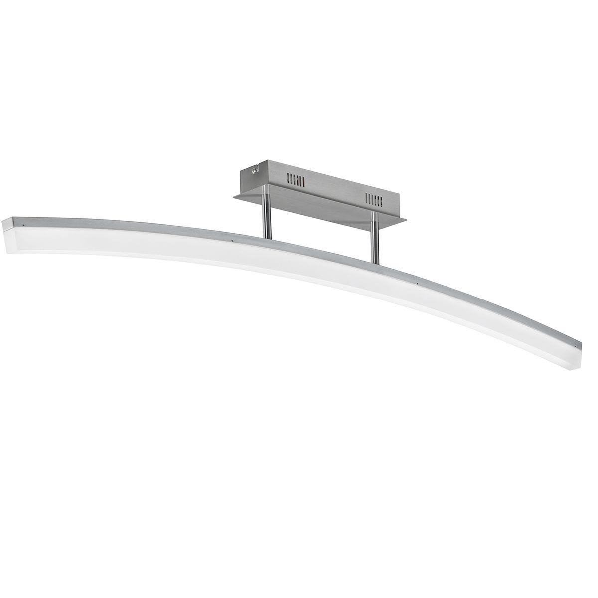 Action Ferrol Ceiling Lamp - Nickel Matt Finished with LED Bulb