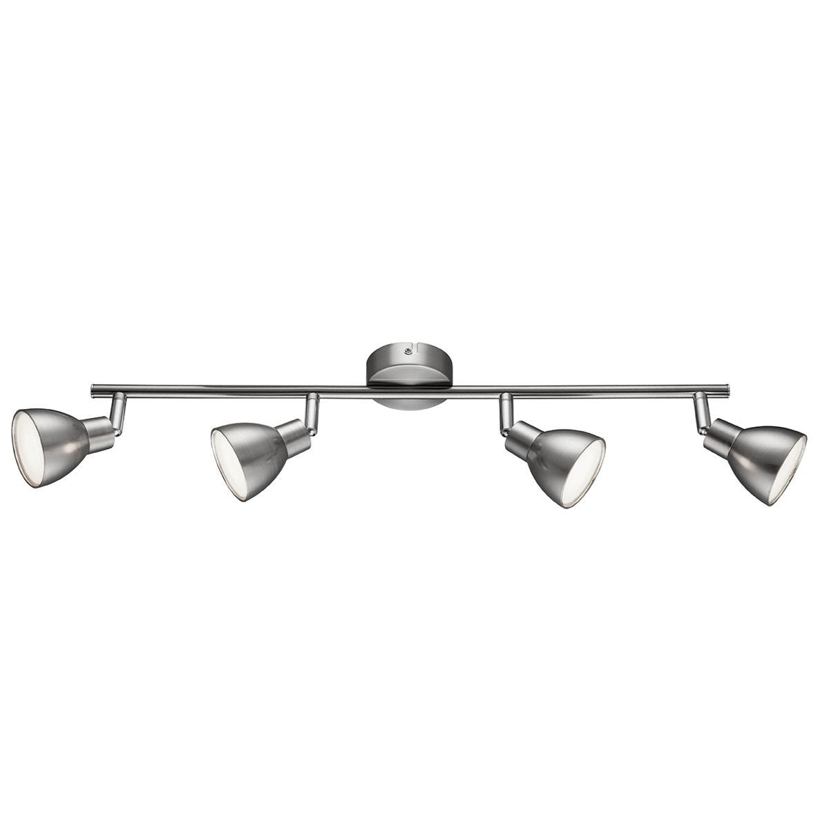 Action Lester Pendant Bar/Spot Light - Nickel Matt Finished/Chrome with 4 x LED Bulbs