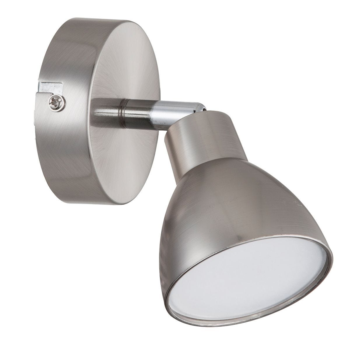 Action Lester Wall Lamp - Nickel Matt Finished/Chrome with LED Bulb