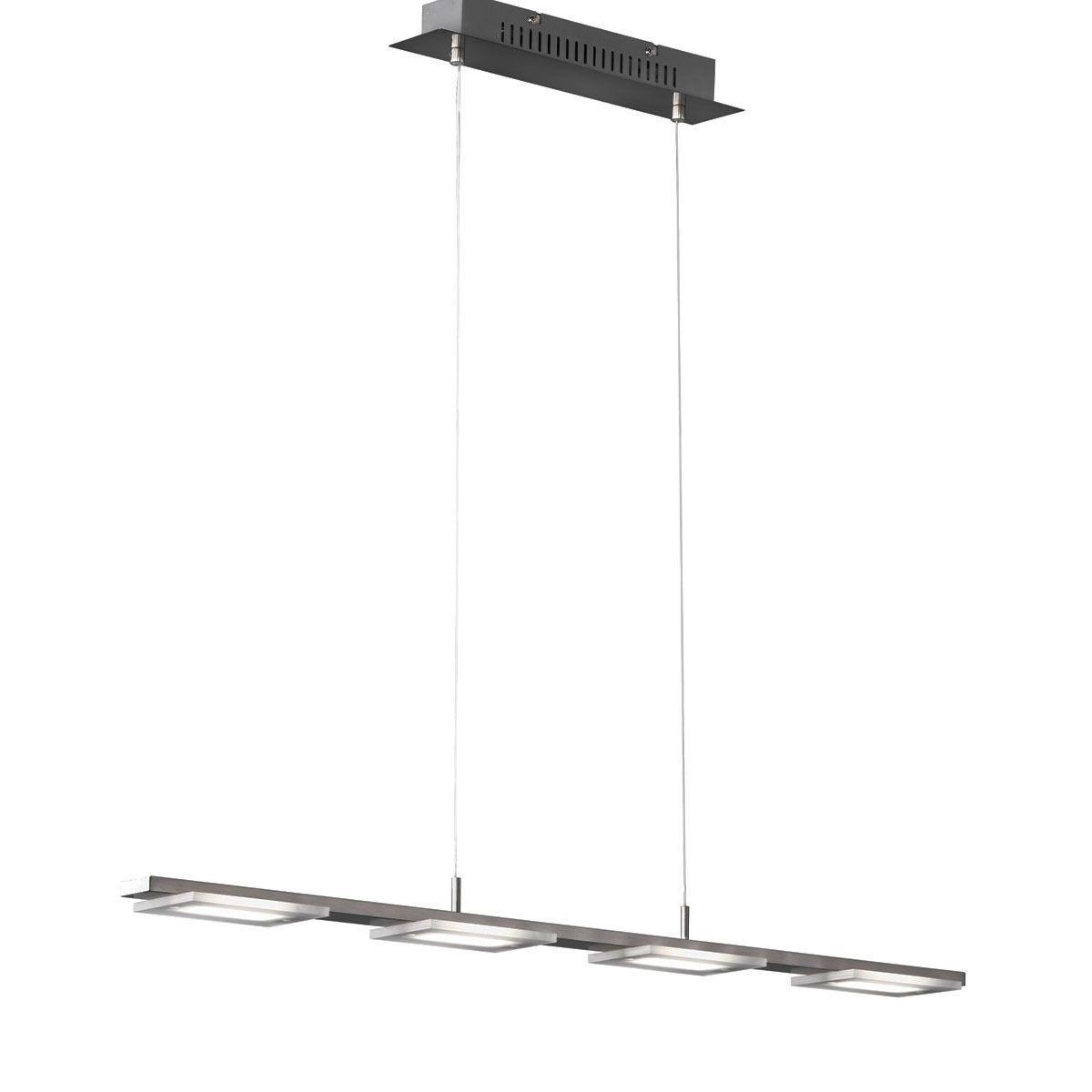 Action Verso 4 LED Lamp Pendant Ceiling Light - Nickel Matt Finish