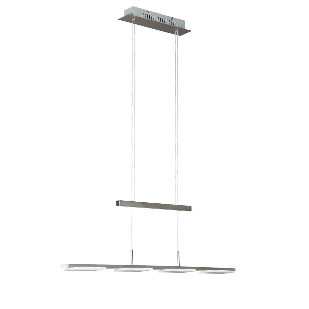 Action Verso 4 LED Lamp Pendant Ceiling Light With Counterweight - Nickel Matt Finish