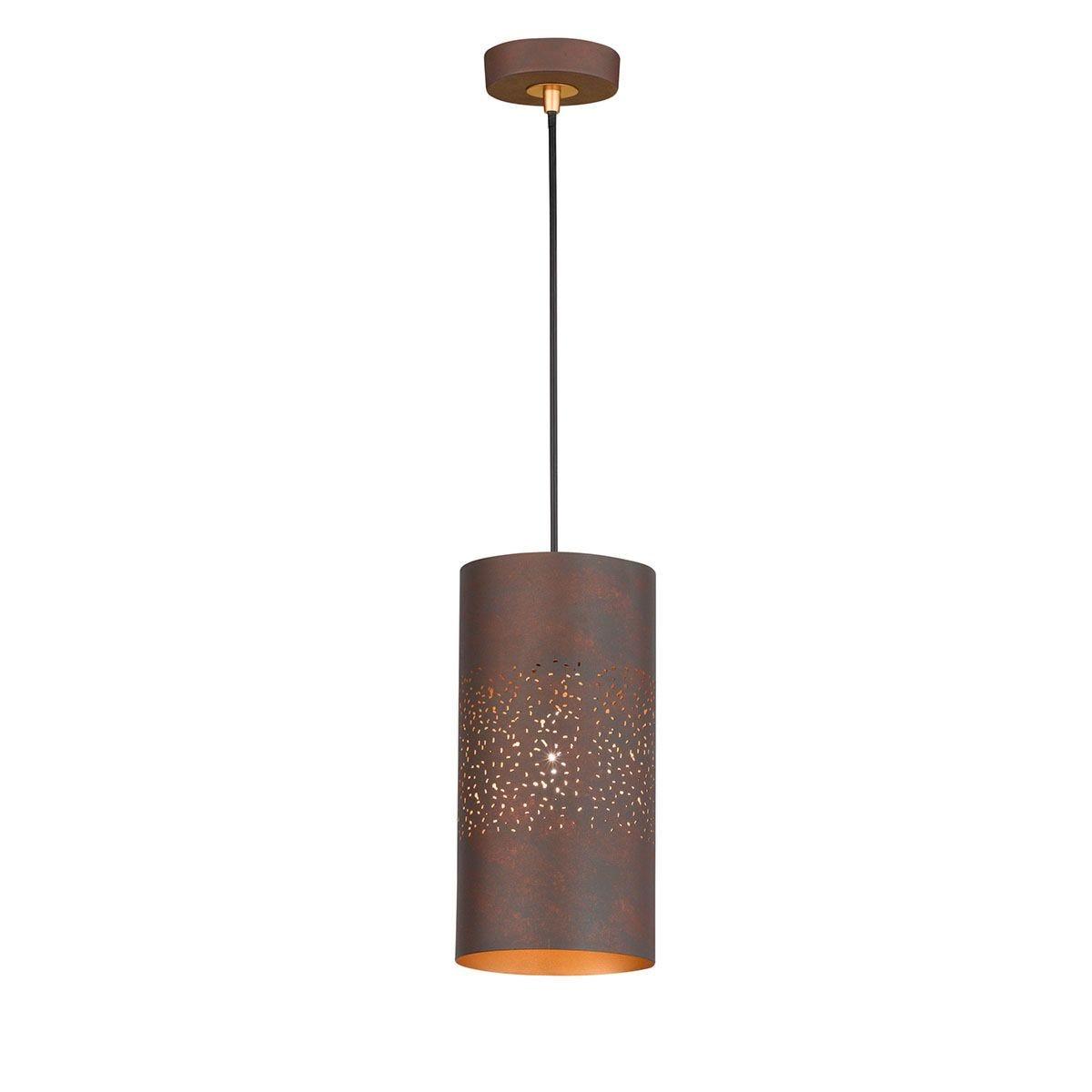 Wofi Ancona Pendant Ceiling Light - Antique Brown