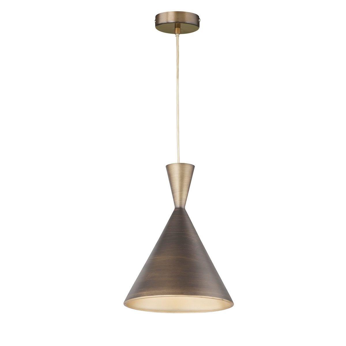 Wofi Anur Pendant Ceiling Light - Brown