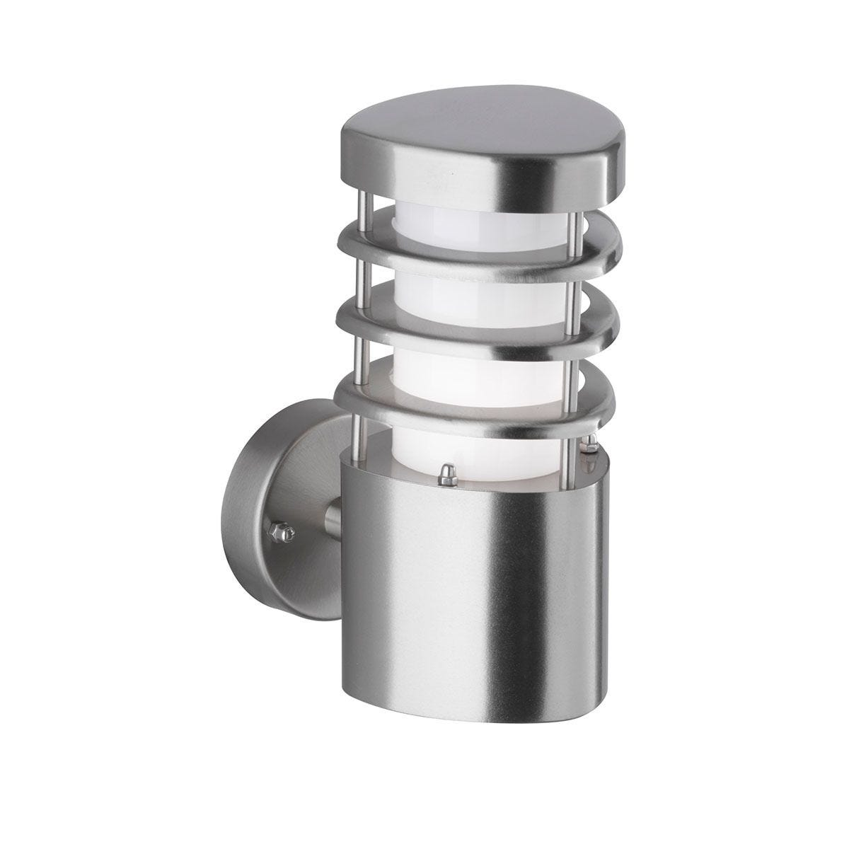Wofi Chesta 3 Sided Wall Lamp - Brushed Stainless Steel