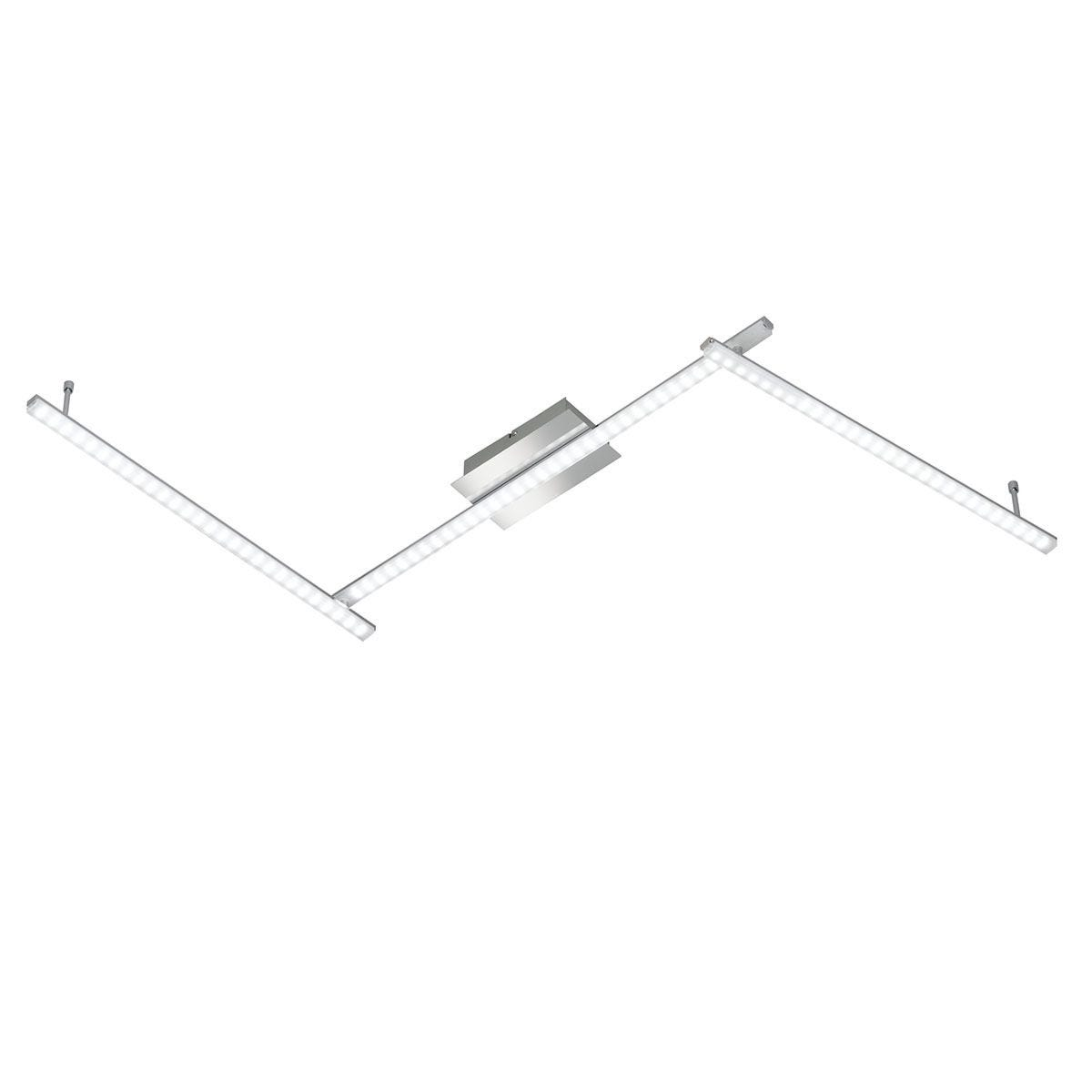 Wofi Clay 3 LED Ceiling Lamp - Chrome