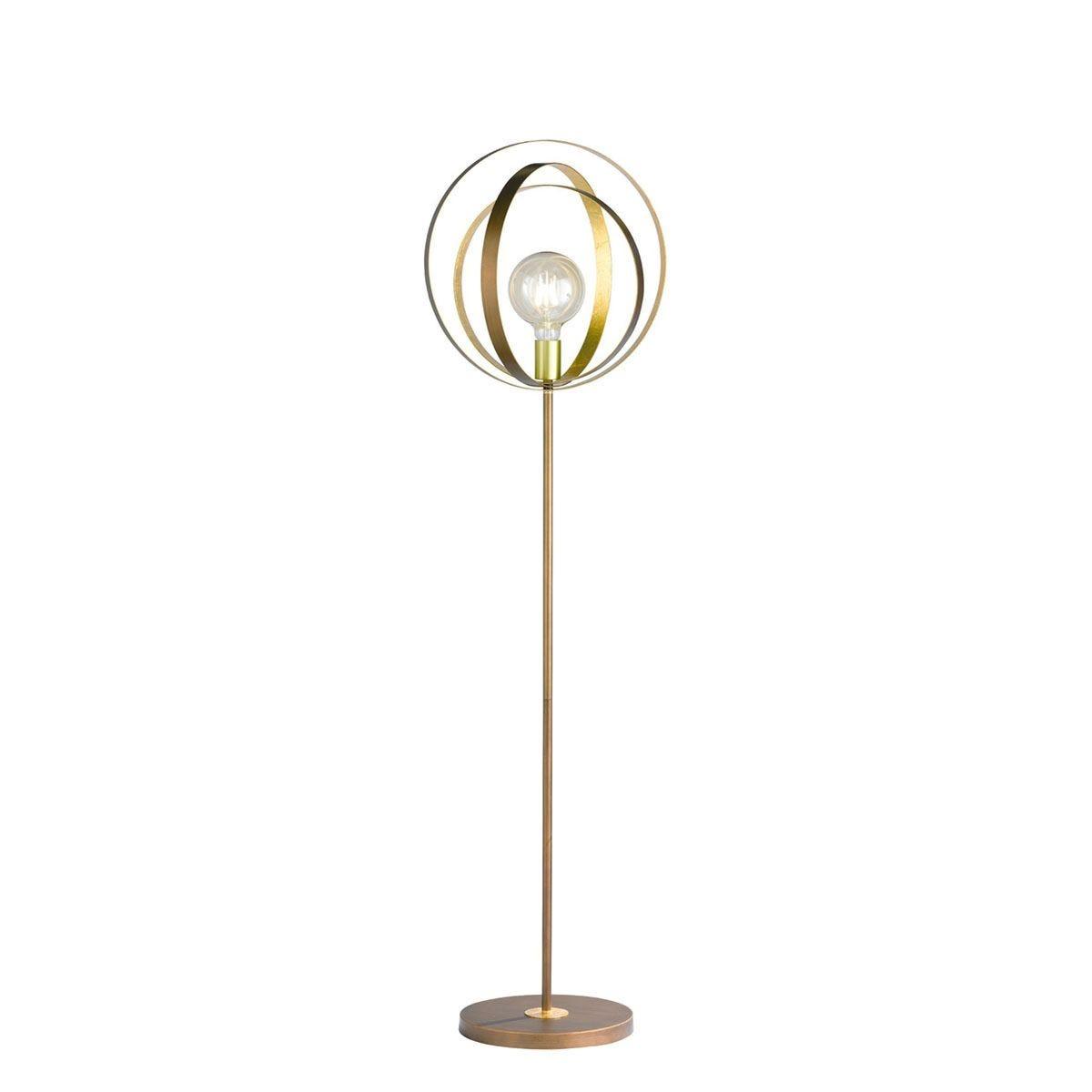 Wofi Cordoba Floor Lamp - Brown
