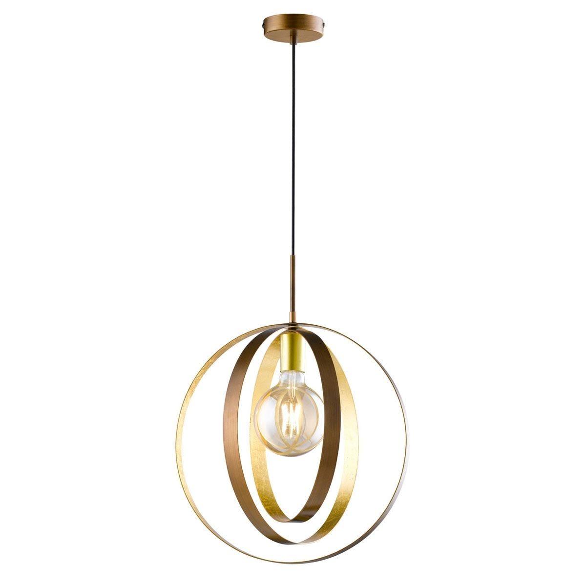 Wofi Cordoba Pendant Ceiling Light - Brown