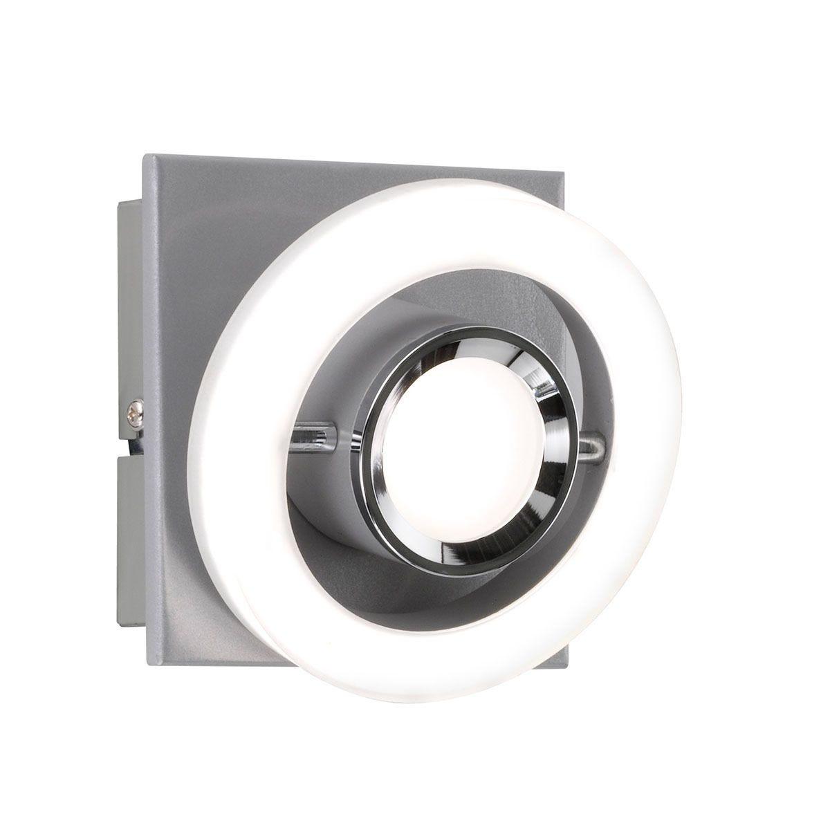 Wofi Detroit LED Wall Lamp - Silver