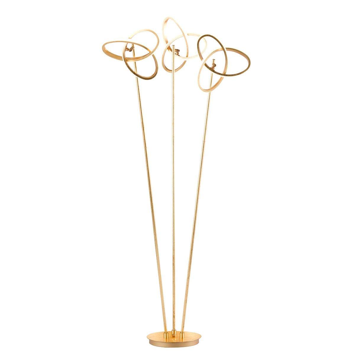 Wofi Eliot 3-LED Floor Lamp - Golden